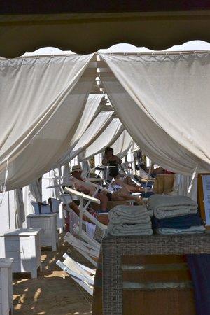 Falconara Charming House Resort & SPA : Spiaggia (Lettini nella parte superiore)