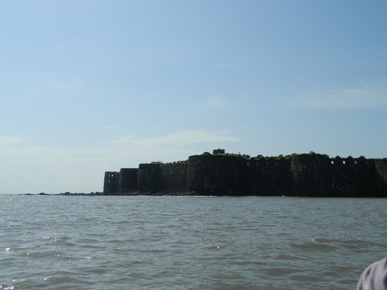Murud, India: On our way to the fort in a boat