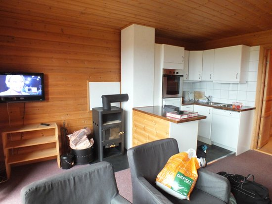 Lillehammer Fjellstue: Küche/Wohnzimmer