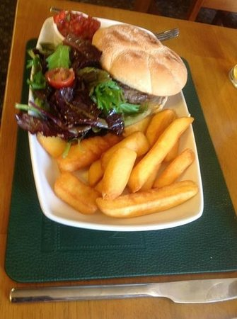 The Sun Inn: Delicious home-made burger (great chips)