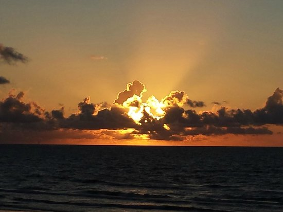 Holiday Inn Corpus Christi - N. Padre Island: View of morning sunrise from our balcony...