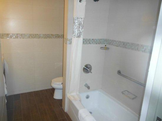 Hilton Garden Inn Panama: Banheiro com cortina na banheira