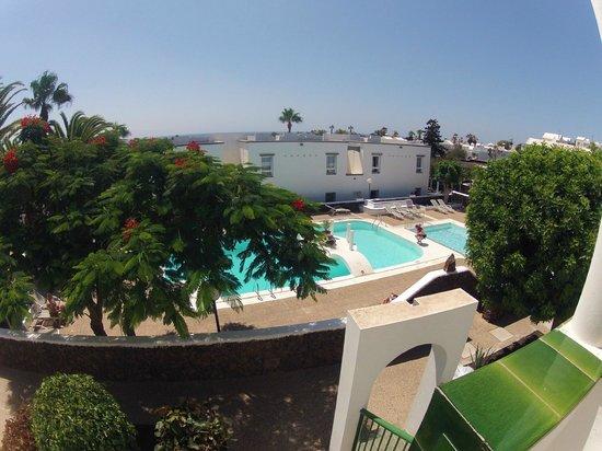 Apartamentos Guacimeta Lanzarote: Nos toco un apartamento con una bonita vista