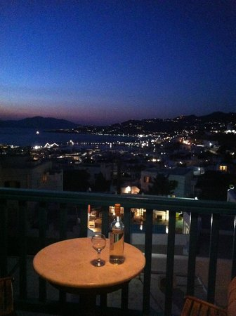 Nazos Hotel: Room view over Mykonos Town