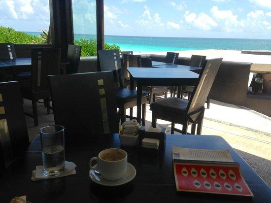Mezzanine Colibri Boutique Hotel: View of Tulum Playa from Mezzanine Restaurant