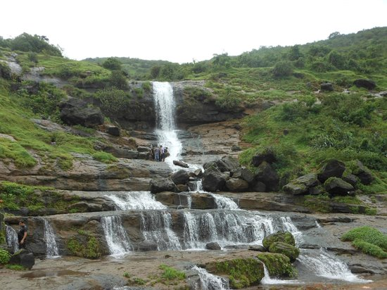 Khandala, India: first waterfall on way to fort