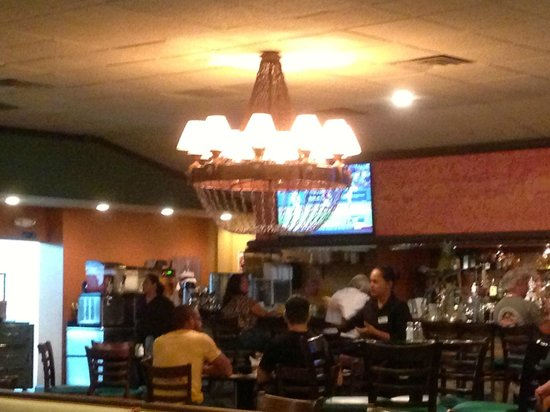 Garibaldi Mexican Restaurant: There are 2 of these Large Great Chandeliers, awesome lighting