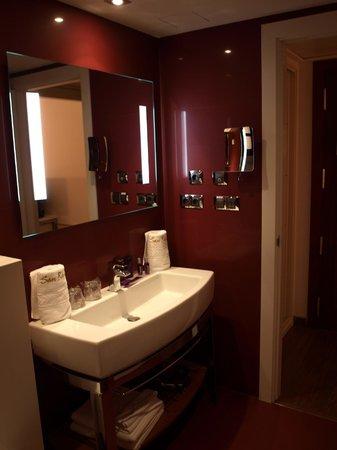 Hotel San Ramon del Somontano: baño de la habitación