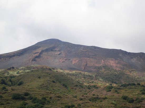 Casa del Sole: Ausblick von der Dachterasse auf den Stromboli