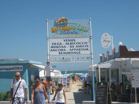 Riccione, Italia: Spiaggia 129