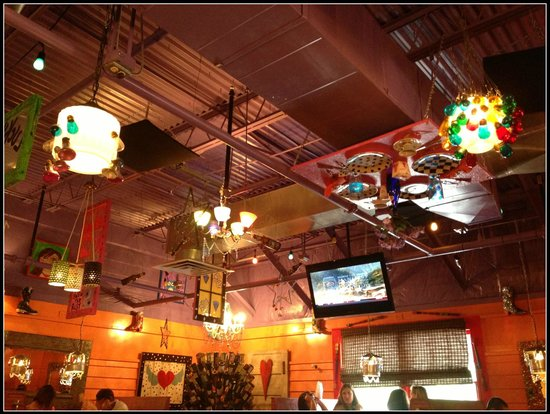 Jack's City Grill: Ceiling of Jack's