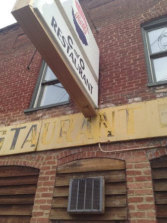 C & O Restaurant: the shabby chic exterior - don't be fooled