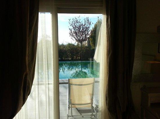 Parc Hotel Germano Suites & Apartments: la piscina privata vista dalla camera