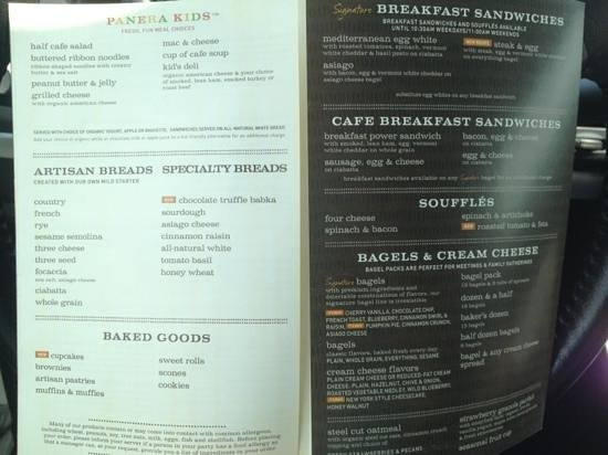 image about Panera Printable Menu named Menu 1 - Visualize of Panera Bread, Lake Charles - TripAdvisor