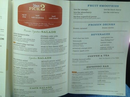 graphic relating to Printable Panera Menu named Menu 3 - Imagine of Panera Bread, Lake Charles - TripAdvisor