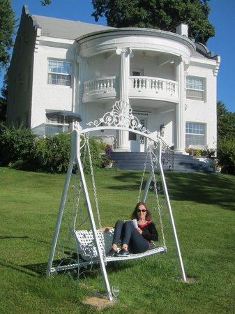 Angel Inn Bed & Breakfast: The swing was a tranquil place to read!