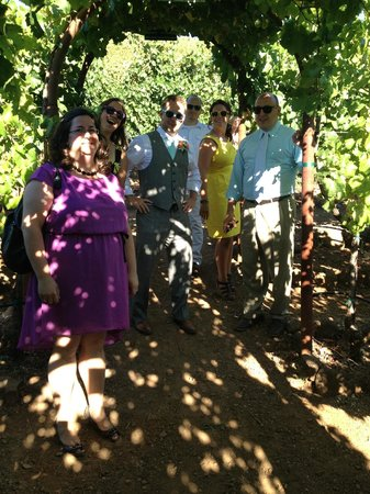 Kunde Family Winery : Tasting Grapes at Kunde