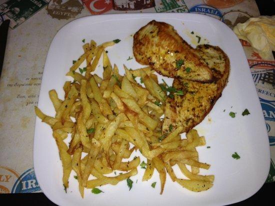 Gostijo : poulet mariné frites