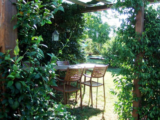La Fratta Art-House: One of the sitting areas in the garden
