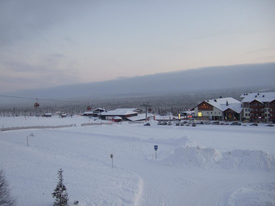 Lapland Hotel Saaga : View from balcony - first floor front