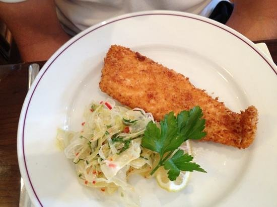 The Seahorse Restaurant: plaice with fennel salad