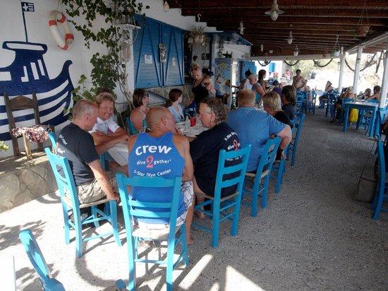 Dive2gether Crete: na het duiken nog even naar Agia Fotia, heerlijk gegeten
