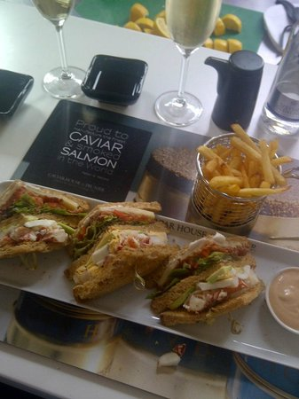 Caviar House & Prunier - St James Street : Lobster Clum Sandwich