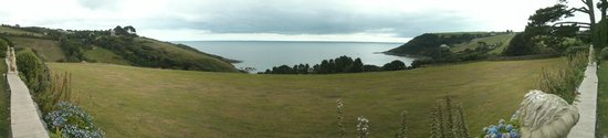Talland Bay Hotel: View from hotel gardens (panorama)