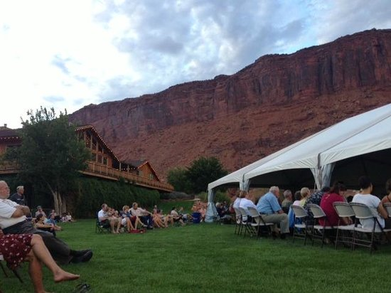 Red Cliffs Lodge : Music Festival on the Back Lawn Behind the Lodge