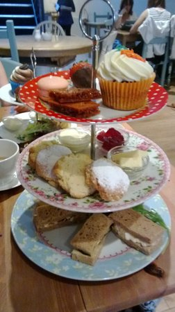 Mad Hatters Tearoom & Bakery: Gluten Free Afternoon Tea (slightly munched ... got too excited before I got the camera out ...