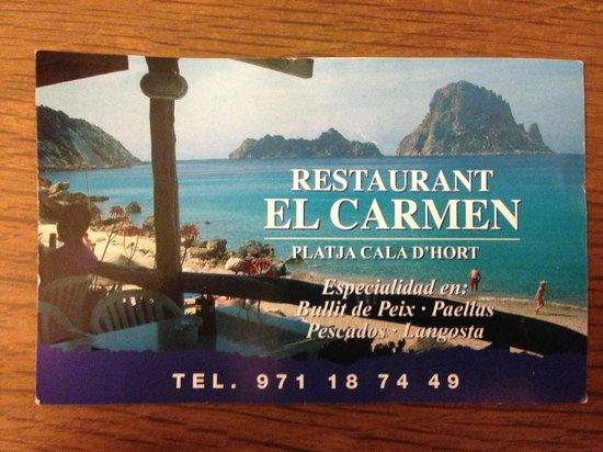 El Carmen: Biglietto da visita