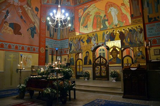 Interior of the Russian Orthodox Church in Rabat