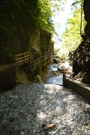 Weissbach bei Lofer, Austria: steps through the gorge