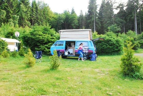 Campingplatz Senhutte: Jezebel at the campsite
