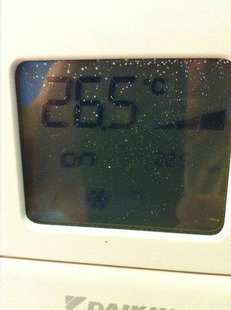 Balneario Termas Pallares - Hotel Termas: temperatura hab por la noche