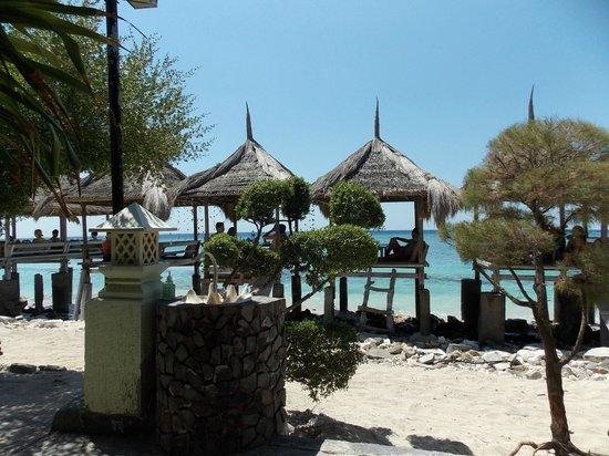 Coral Beach Pizza Cottages: ristorante
