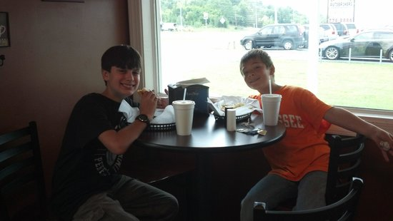 Smoky Mountain Cheesecake Cafe : Even the kiddos love it! Great burgers too!