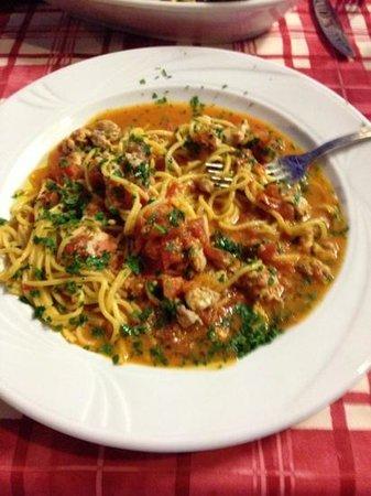 Mediterraneo Beach: spaghetti al pesce spada