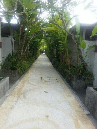 Ivory Resort Seminyak: walkway to rooms