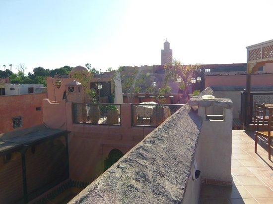 Riad BB Marrakech: Vue du toit
