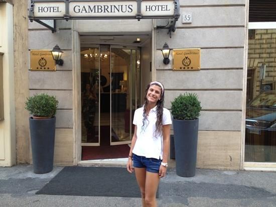 Gambrinus Hotel: con mi hija estefania