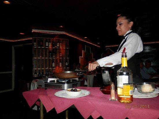 Marco Polo Restaurant LLC: Flaming Bananas Foster prep