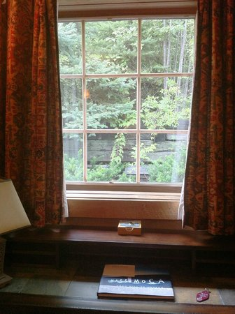 The Barnstead Inn: View from window by desk