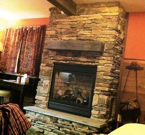 The Barnstead Inn: Lovely stone fireplace