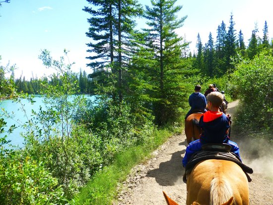 Banff Trail Riders: Beside the Bow Valley river