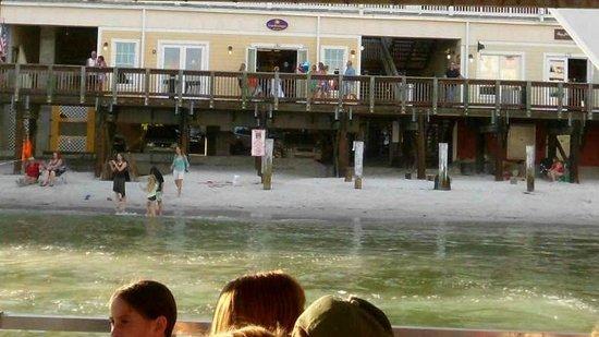 Hubbard's Marina: John Pass Boardwalk from the boat