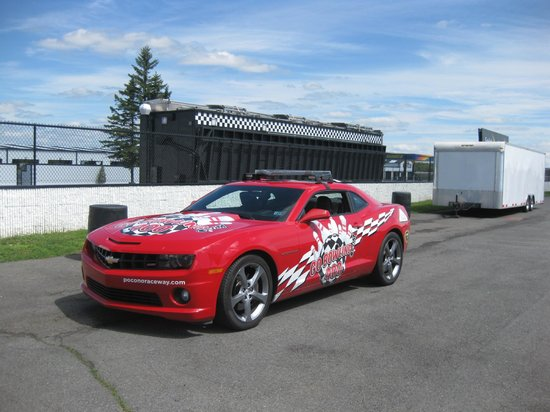Pocono Raceway: This is the car that we rode in for the tour....cool!