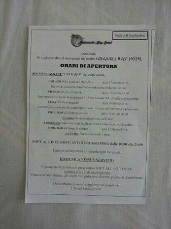 Kabanari Bay Hotel: leggete attentamente tutto!!