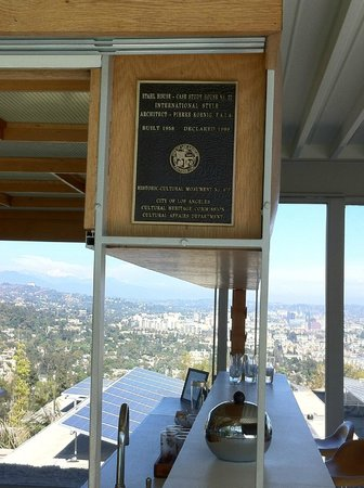 Stahl House : Historic Cultural Monument plaque