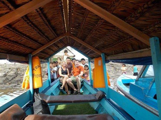 Amazon Refuge: Village children, crew and us